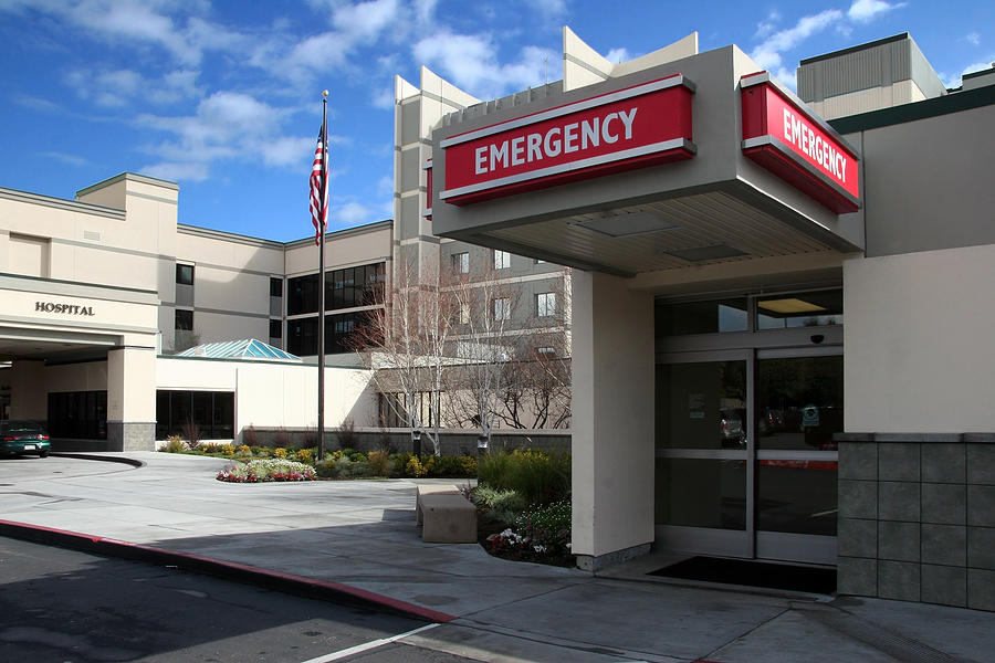 Employee takes FMLA leave at hospital emergency room.jpg