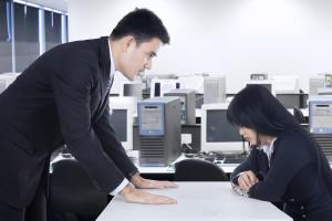 Businessman Harassing His Subordinate