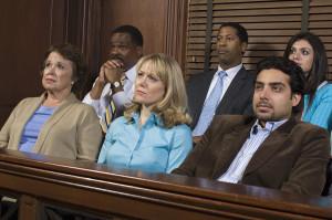 Civil jury in employment law case