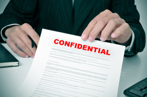 Employee stealing company's confidential information