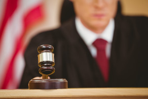 Judge with gavel non-compete agreement
