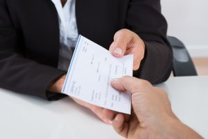Employee providing copy of paycheck to potential employer