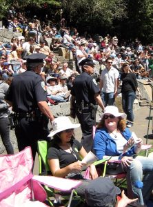 Police Officers Interacting with Citizens