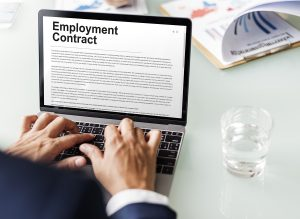 Non-Compete Agreement in Online FormTerms Agreement Concept