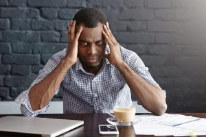 Employee with migraine headache needs FMLA leave.