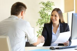 Candidate offered job at end of interview